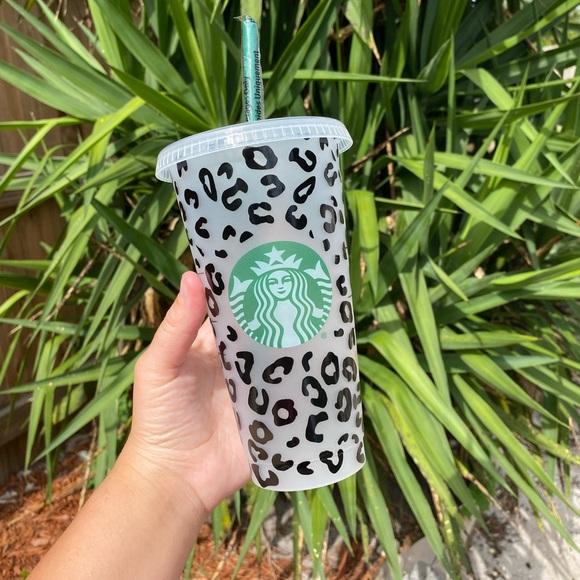 Cheetah Print Ring for Starbucks Cold Reusable Cup